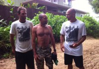 Laurent avec Kelly Slater et Nathan Fletcher