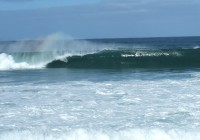 Shore Break de Waimea sur le point de frapper
