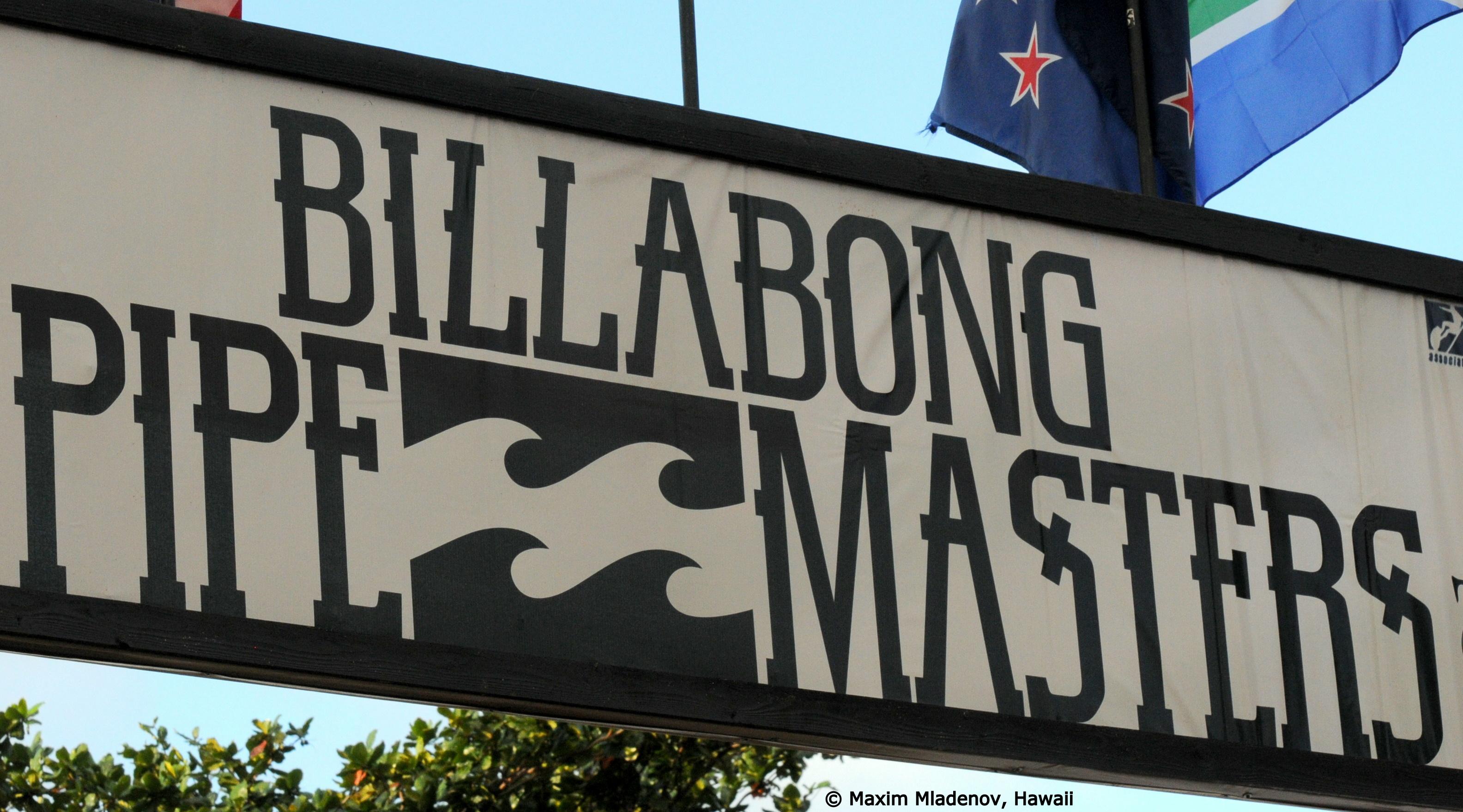 Banderole - Billabong PIPE Masters © Maxim Mladenov, Hawaii