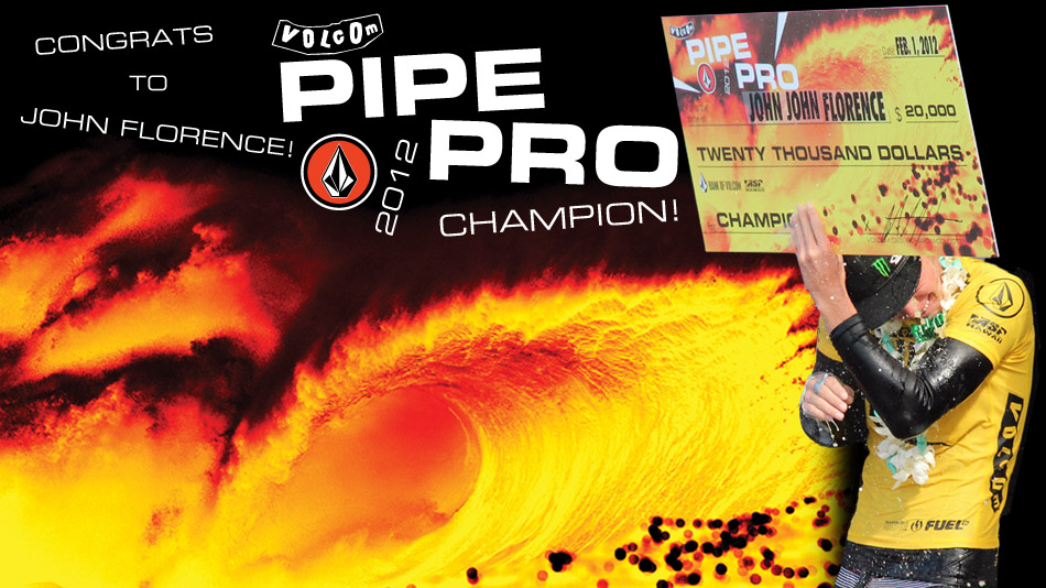 John Florence vainqueur du Volcom Pipe pro