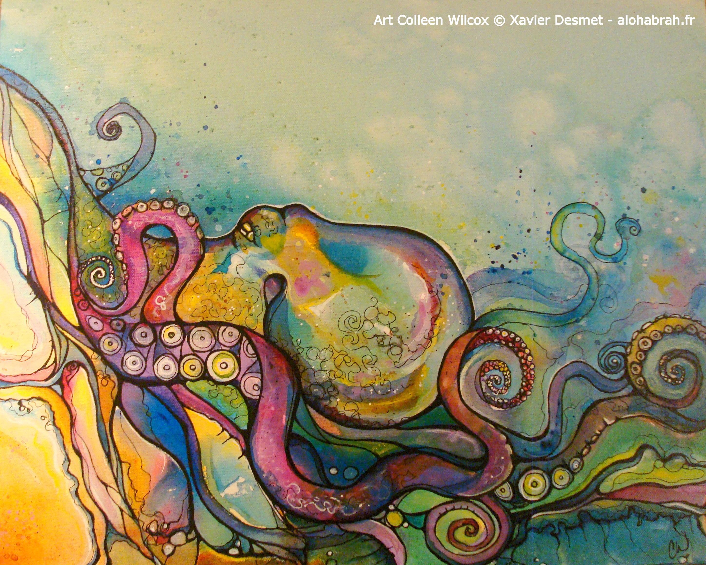 Poulpe - Art Colleen Wilcox © Xavier Desmet - alohabrah.fr