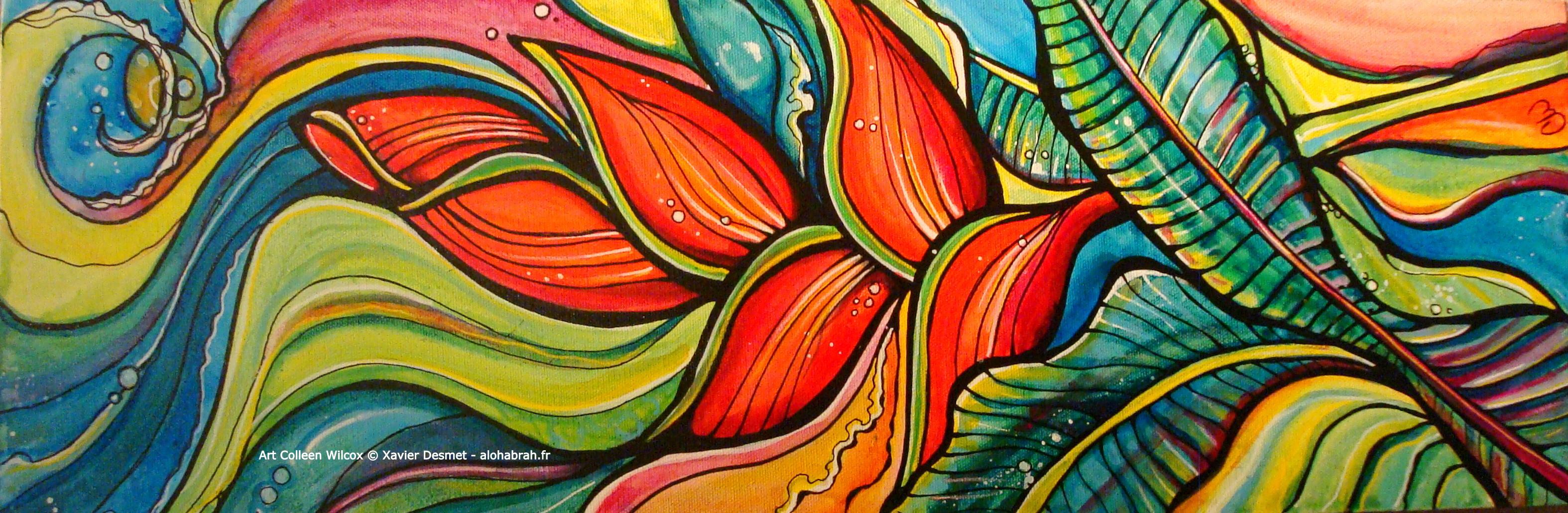 Wave Plants - Art Colleen Wilcox © Xavier Desmet - alohabrah.fr