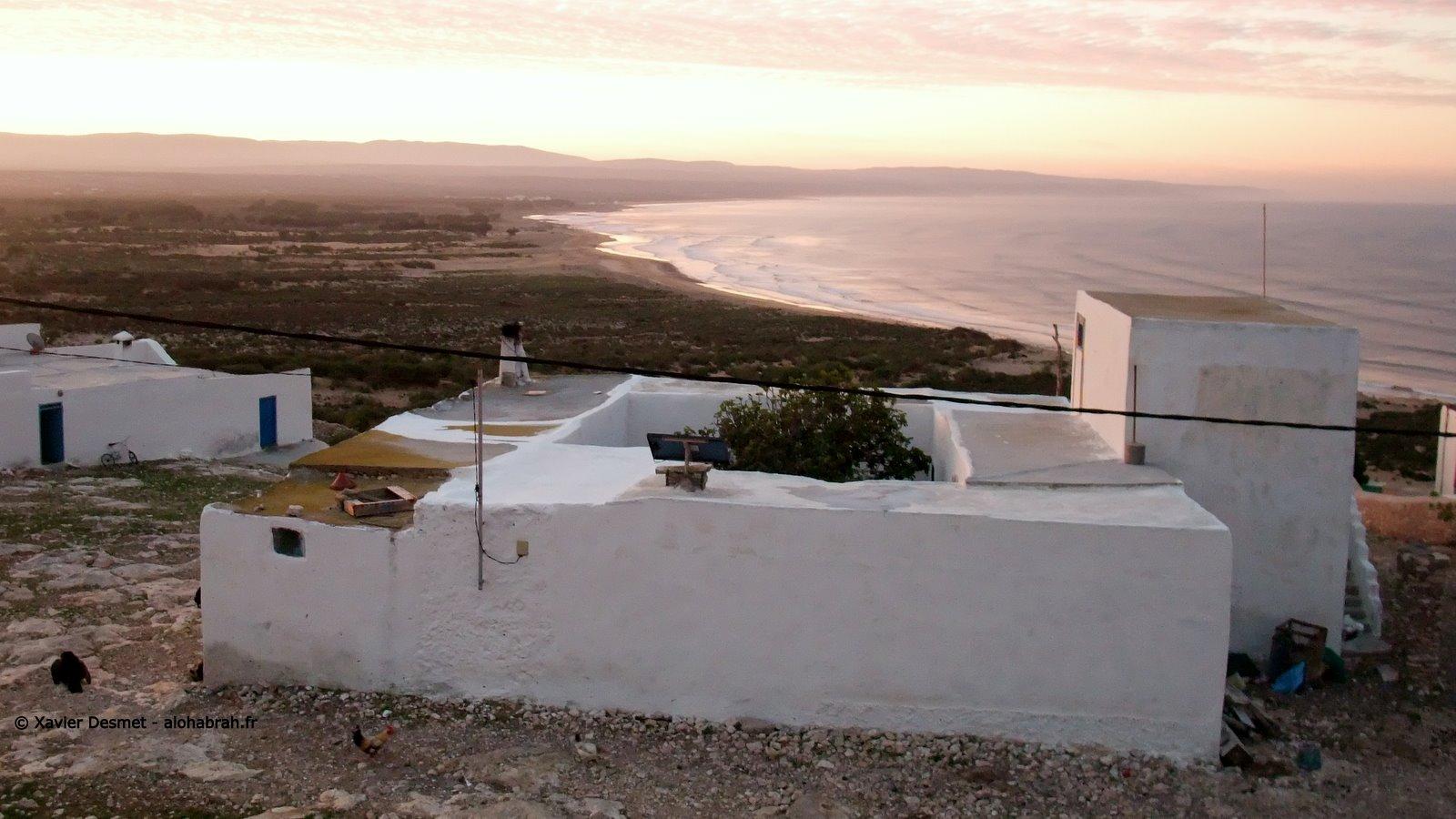 levé de soleil sur le littoral marocain © Xavier Desmet - alohabrah.fr