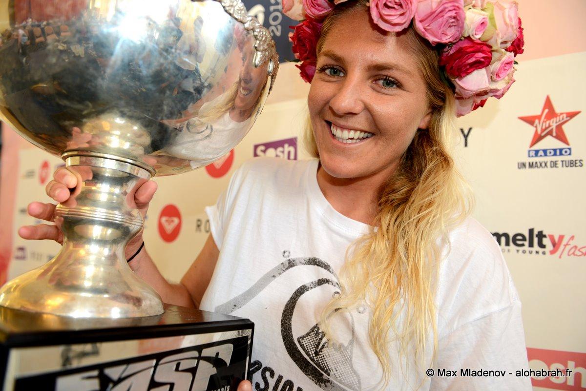 Stephanie Gilmore #5 World Champion @Roxy Pro 2012 Biarritz © Max Mladenov, alohabrah.fr