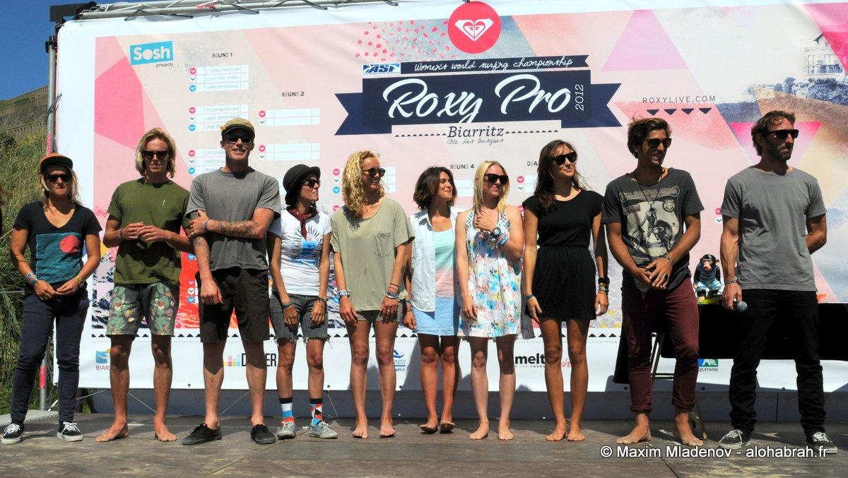 Kassia Invitational Podium @Roxy Pro 2012 © Maxim Mladenov - alohabrah.fr