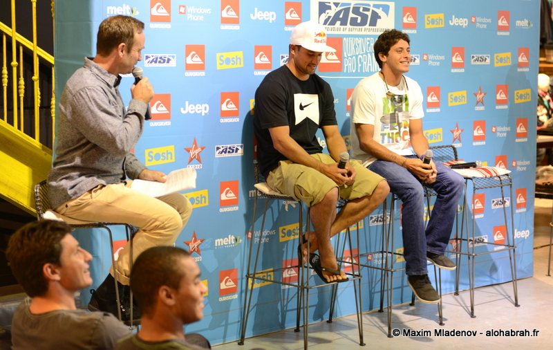 Conference presse with Michel Boures & Jeremy Flores @Quiksilver Pro France 2012 © Maxim Mladenov - alohabrah.fr
