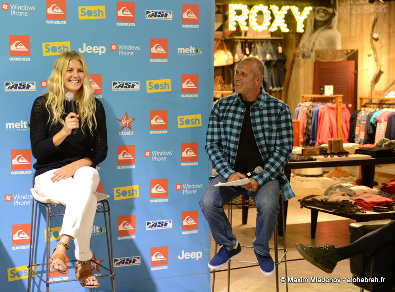 Conference presse with Stephanie Gilmore @Quiksilver Pro France 2012 © Maxim Mladenov - alohabrah.fr