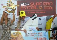 Prize Money de 8000 Dollars pour Justine Dupont @EDP Surf Pro Carcavelos 2012 © Xavier Desmet - alohabrah.fr