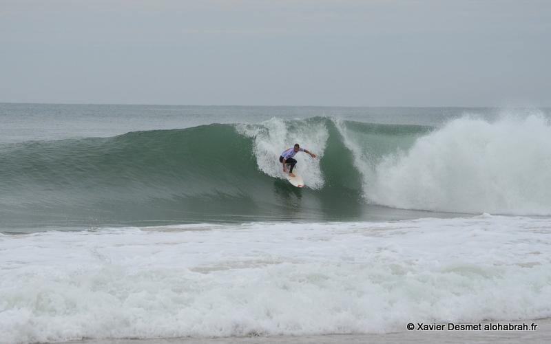 Travis Logie @Round 1 seq1@ Quiksilver Pro France 2012 ©Xavier Desmet - alohabrah.fr