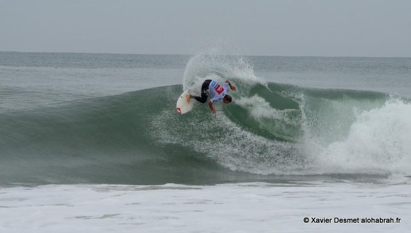Travis Logie @Round 1 seq2@ Quiksilver Pro France 2012 ©Xavier Desmet - alohabrah.fr